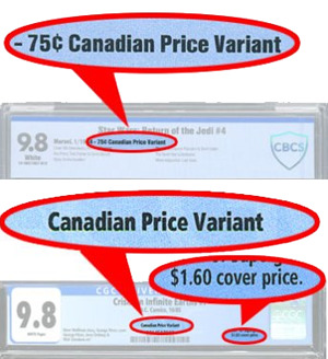 Canadian Price Variants labeling