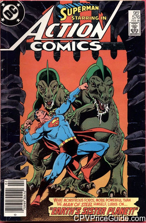 Action Comics #576 95¢ Canadian Price Variant Comic Book Picture