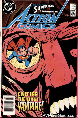Action Comics #577 95¢ Canadian Price Variant Comic Book Picture