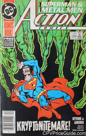 Action Comics #599 $1.00 Canadian Price Variant Comic Book Picture