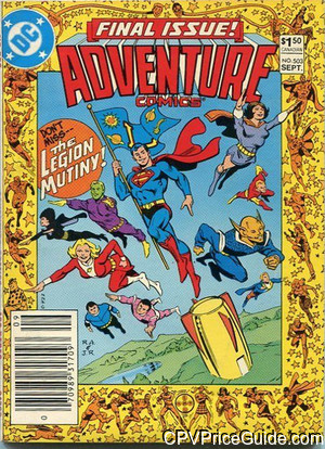 adventure comics 503 cpv canadian price variant image