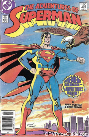 adventures of superman 424 cpv canadian price variant image