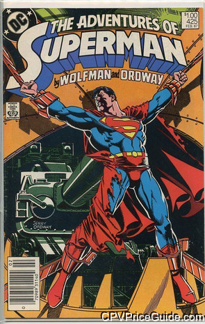 adventures of superman 425 cpv canadian price variant image