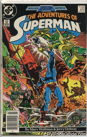adventures of superman 426 cpv canadian price variant image