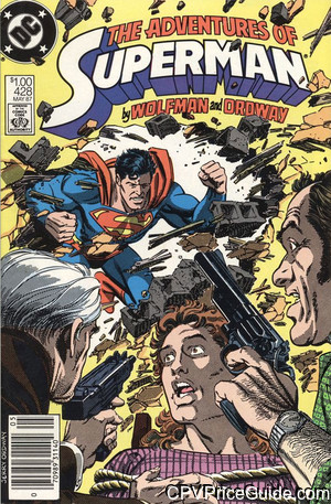 adventures of superman 428 cpv canadian price variant image