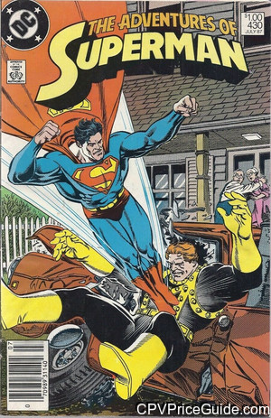 adventures of superman 430 cpv canadian price variant image