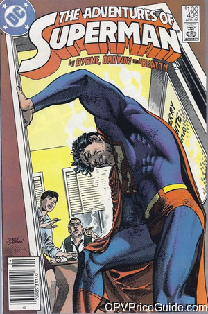 adventures of superman 439 cpv canadian price variant image