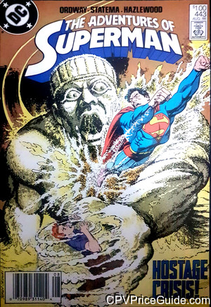 Adventures of Superman #443 $1.00 Canadian Price Variant Comic Book Picture