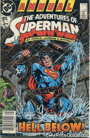 adventures of superman annual 1 cpv canadian price variant image