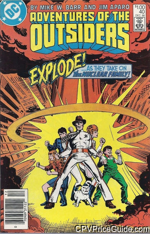 adventures of the outsiders 40 cpv canadian price variant image