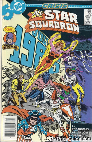 All Star Squadron #55 95¢ Canadian Price Variant Comic Book Picture