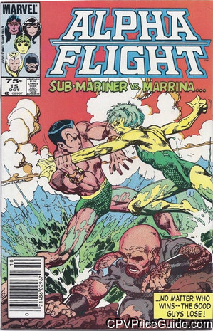 Alpha Flight #15 75¢ Canadian Price Variant Comic Book Picture