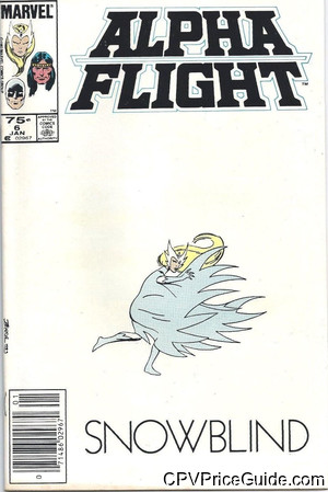 Alpha Flight #6 75¢ Canadian Price Variant Comic Book Picture