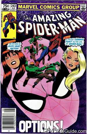 amazing spider man 243 cpv canadian price variant image