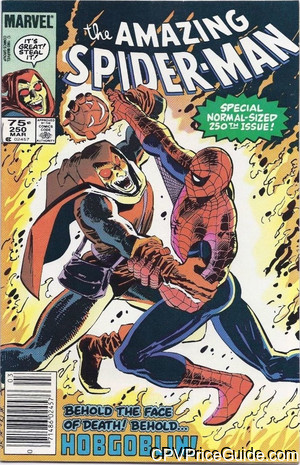 Amazing Spider-Man #250 75¢ Canadian Price Variant Comic Book Picture