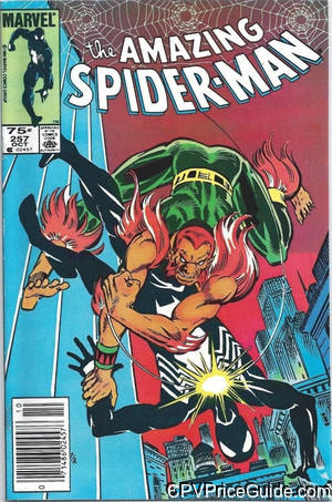 Amazing Spider-Man #257 75¢ Canadian Price Variant Comic Book Picture