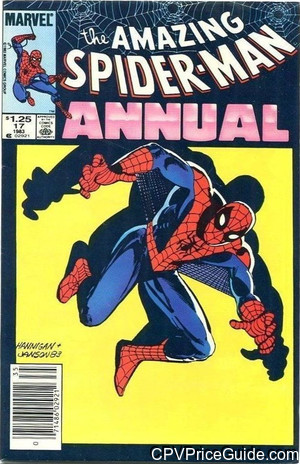 Amazing Spider-Man Annual #17 $1.25 Canadian Price Variant Comic Book Picture