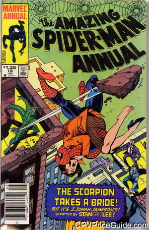 Amazing Spider-Man Annual #18 $1.25 Canadian Price Variant Comic Book Picture