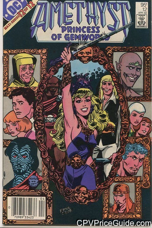 Amethyst Princess of Gemworld #12 95¢ Canadian Price Variant Comic Book Picture
