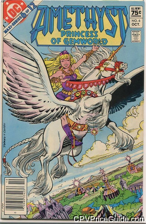 Amethyst Princess of Gemworld #6 75¢ Canadian Price Variant Comic Book Picture