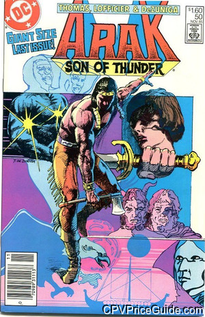 Arak Son of Thunder #50 $1.60 Canadian Price Variant Comic Book Picture