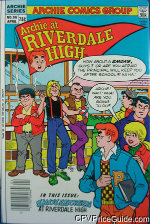 archie at riverdale high 96 cpv canadian price variant image