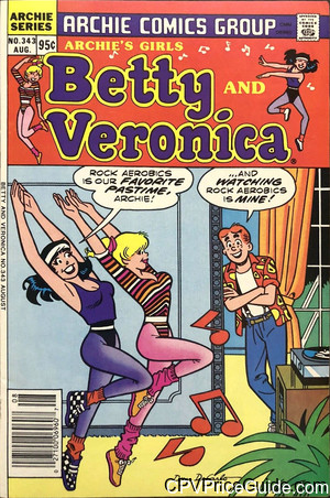 archies girls betty and veronica 343 cpv canadian price variant image