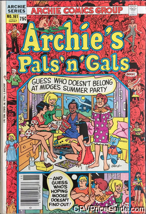 Archie's Pals 'n Gals #161 75¢ Canadian Price Variant Comic Book Picture