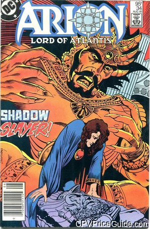 Arion Lord of Atlantis #34 95¢ Canadian Price Variant Comic Book Picture