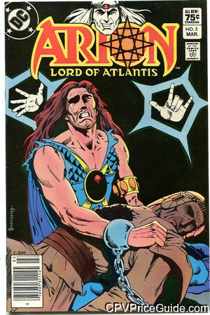 Arion Lord of Atlantis #5 75¢ Canadian Price Variant Comic Book Picture