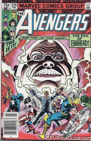 Avengers #229 75¢ Canadian Price Variant Comic Book Picture