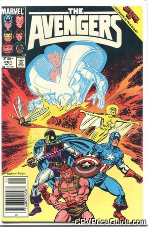 Avengers #261 75¢ Canadian Price Variant Comic Book Picture