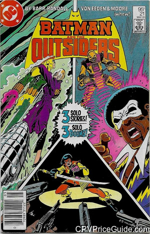 Batman and the Outsiders #21 95¢ Canadian Price Variant Comic Book Picture
