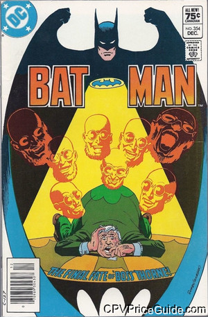 batman 354 cpv canadian price variant image