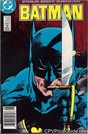 batman 422 cpv canadian price variant image