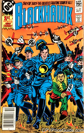 Blackhawk #251 75¢ Canadian Price Variant Comic Book Picture
