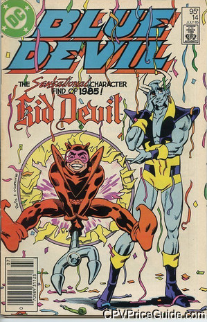 Blue Devil #14 95¢ Canadian Price Variant Comic Book Picture
