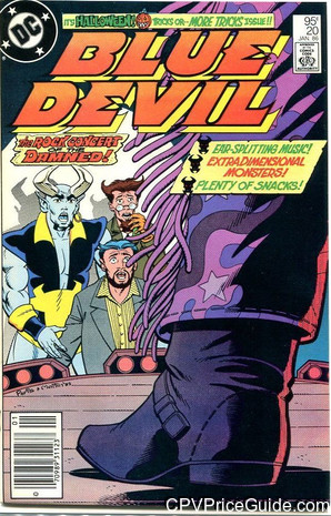 Blue Devil #20 95¢ Canadian Price Variant Comic Book Picture