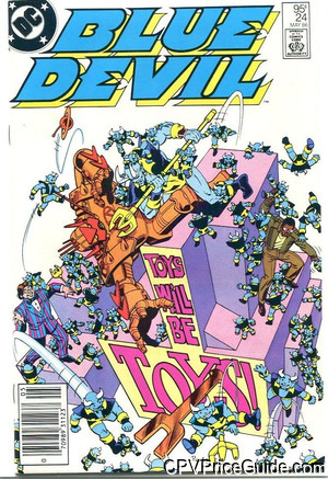 Blue Devil #24 95¢ Canadian Price Variant Comic Book Picture