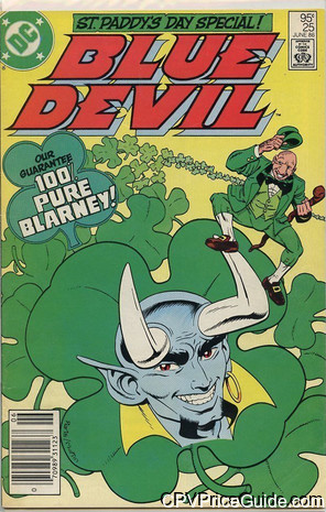 Blue Devil #25 95¢ Canadian Price Variant Comic Book Picture