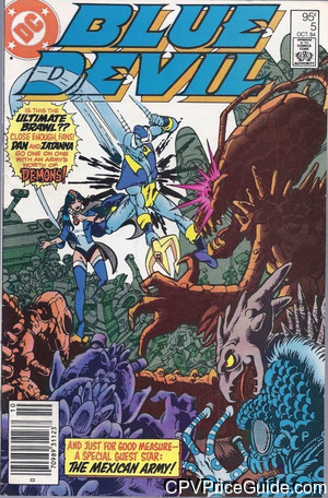 Blue Devil #5 95¢ Canadian Price Variant Comic Book Picture