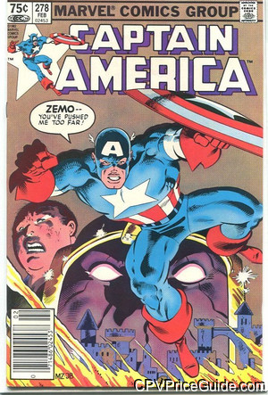 Captain America #278 75¢ Canadian Price Variant Comic Book Picture
