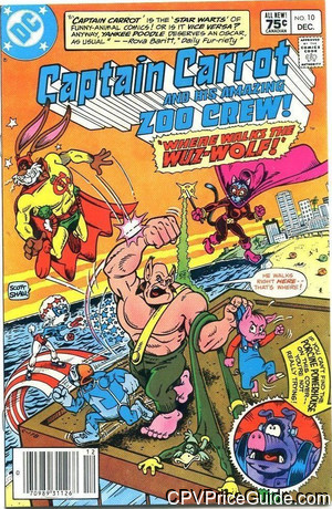 captain carrot 10 cpv canadian price variant image