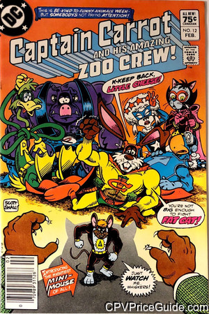 captain carrot 12 cpv canadian price variant image