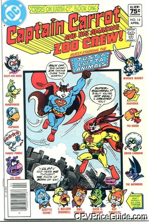 Captain Carrot #14 75¢ Canadian Price Variant Comic Book Picture