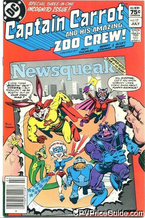 Captain Carrot #17 75¢ Canadian Price Variant Comic Book Picture