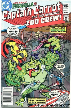 Captain Carrot #19 75¢ Canadian Price Variant Comic Book Picture