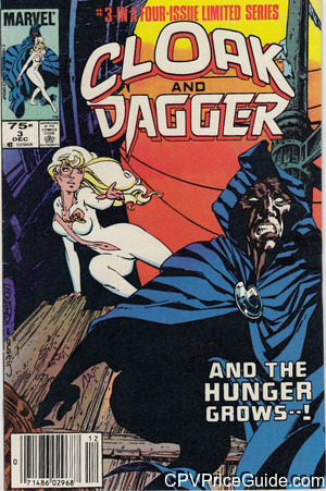 Cloak and Dagger Limited Series #3 75¢ Canadian Price Variant Comic Book Picture