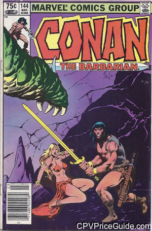 Conan the Barbarian #144 75¢ Canadian Price Variant Comic Book Picture
