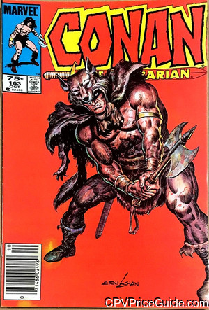 Conan the Barbarian #163 75¢ Canadian Price Variant Comic Book Picture
